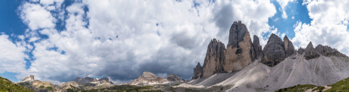 Three peaks of Lavaredo from northwest