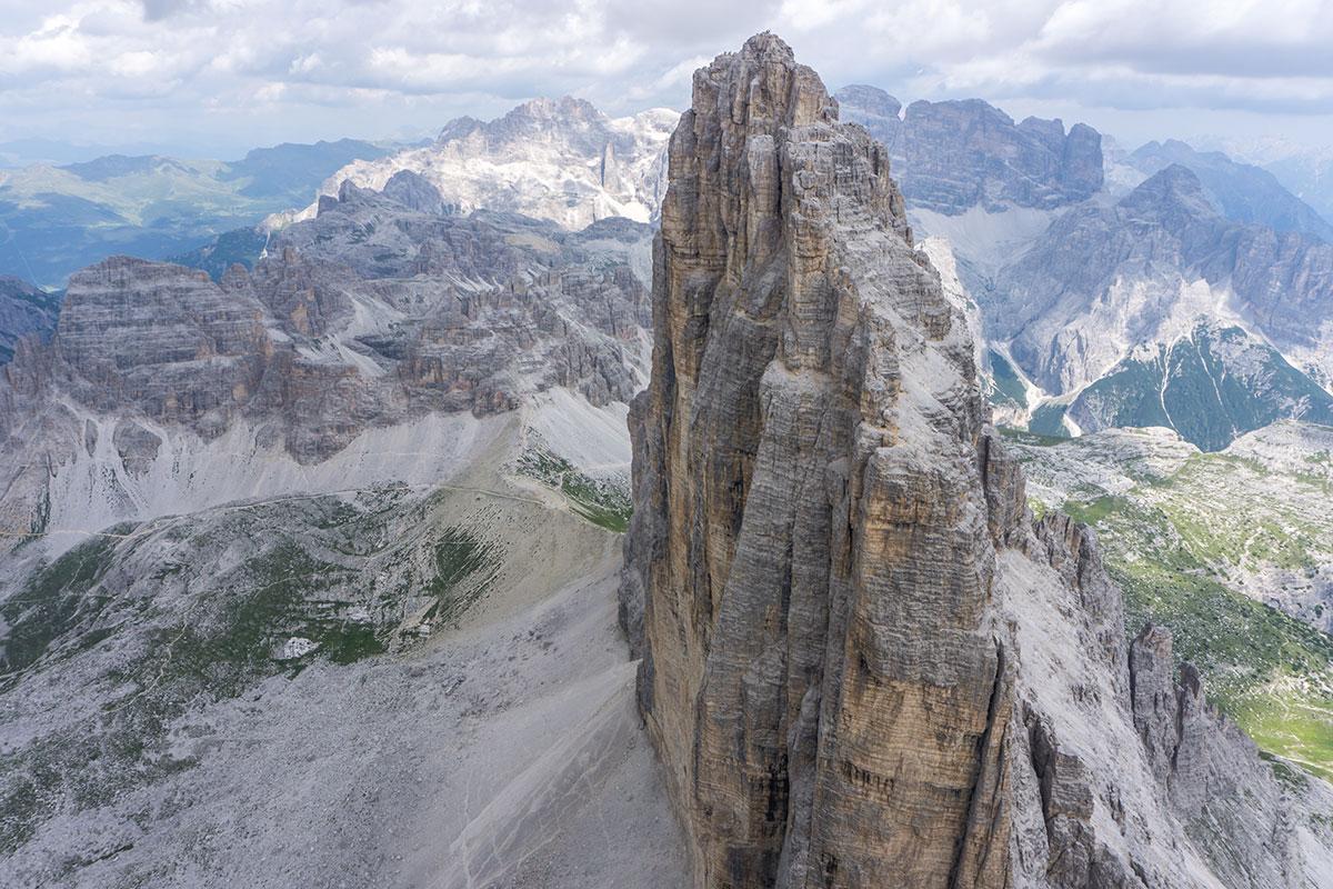 Dolomiten, Grosse Zinne, Blick auf die Nordwand und die Nordwestkante von der Westlichen Zinne aus, Foto Thomas März