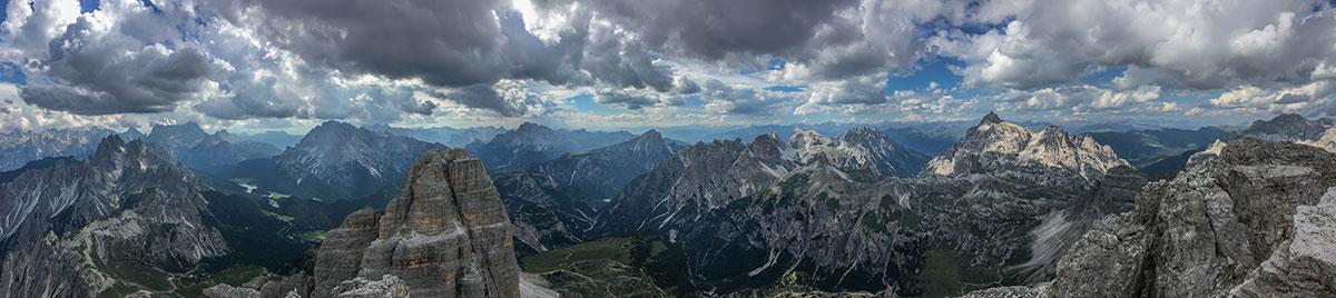 Dolomiten, Grosse Zinne, Gipfelausblick, Foto Olivier Marggraf