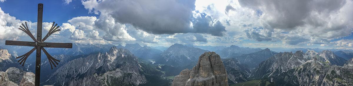Dolomiten, Grosse Zinne, Gipfelkreuz, Foto Olivier Marggraf
