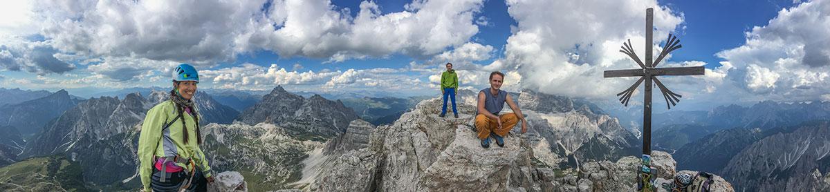 Dolomiten, Grosse Zinne, Gipfelkreuz