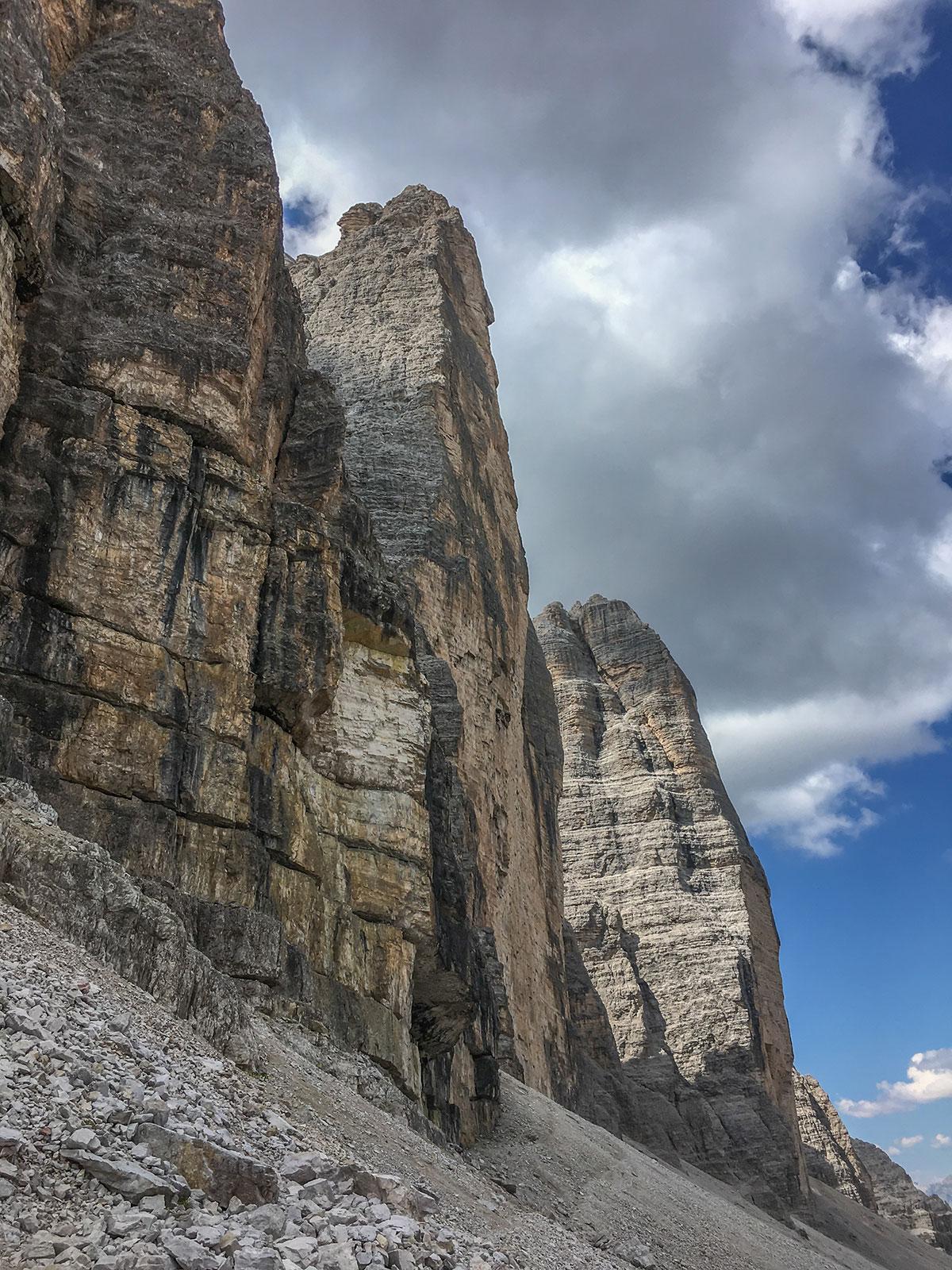 Grosse Zinne Nordwand, Foto Olivier Marggraf