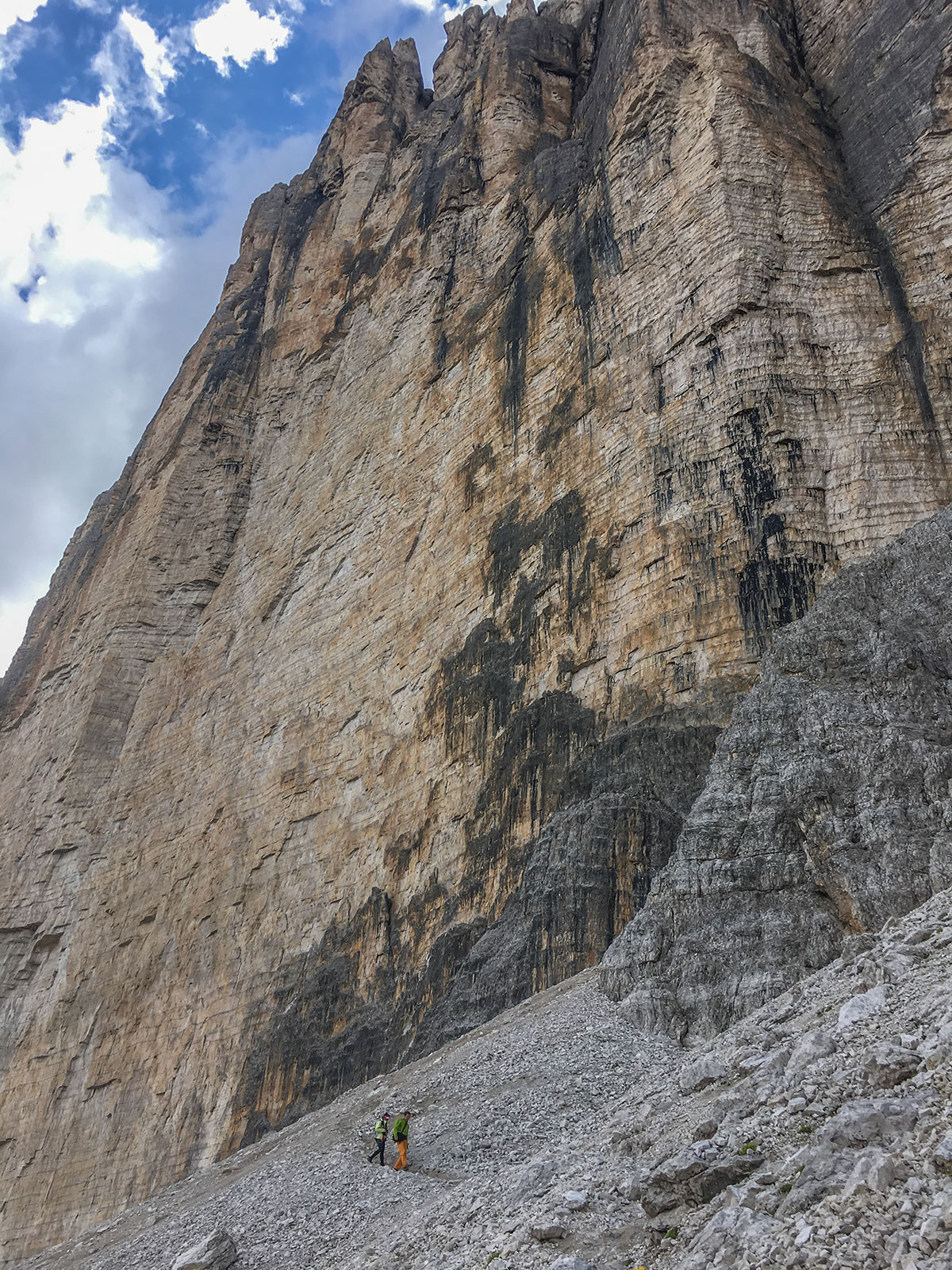 Grosse Zinne Nordwand, Blick auf die Hasse Brandler, Foto Olivier Marggraf