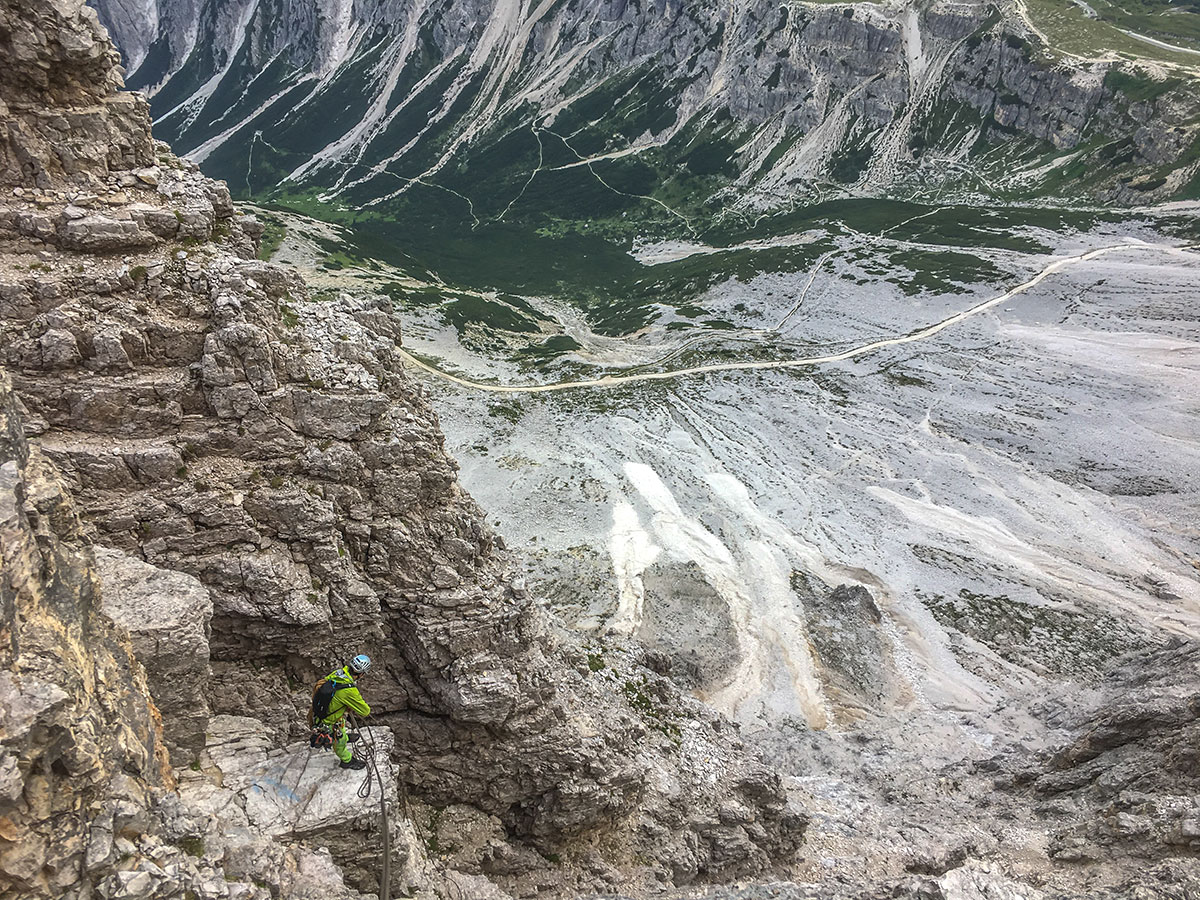 Grosse Zinne, Abstieg, Foto Olivier Marggraf