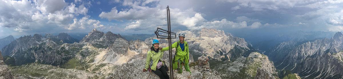 Kleine Zinne, Gipfelkreuz, Foto Olivier Marggraf