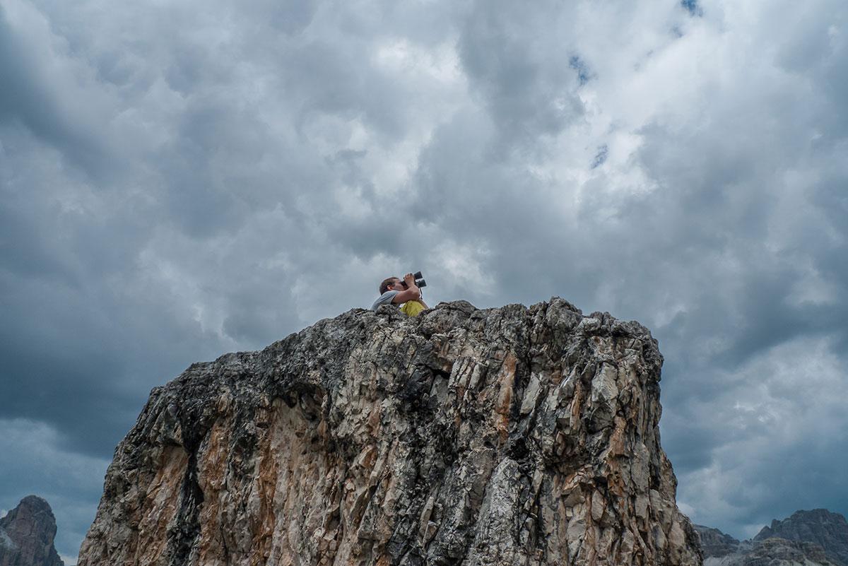 Dolomiten, Drei Zinnen, Nordwandbeobachtung