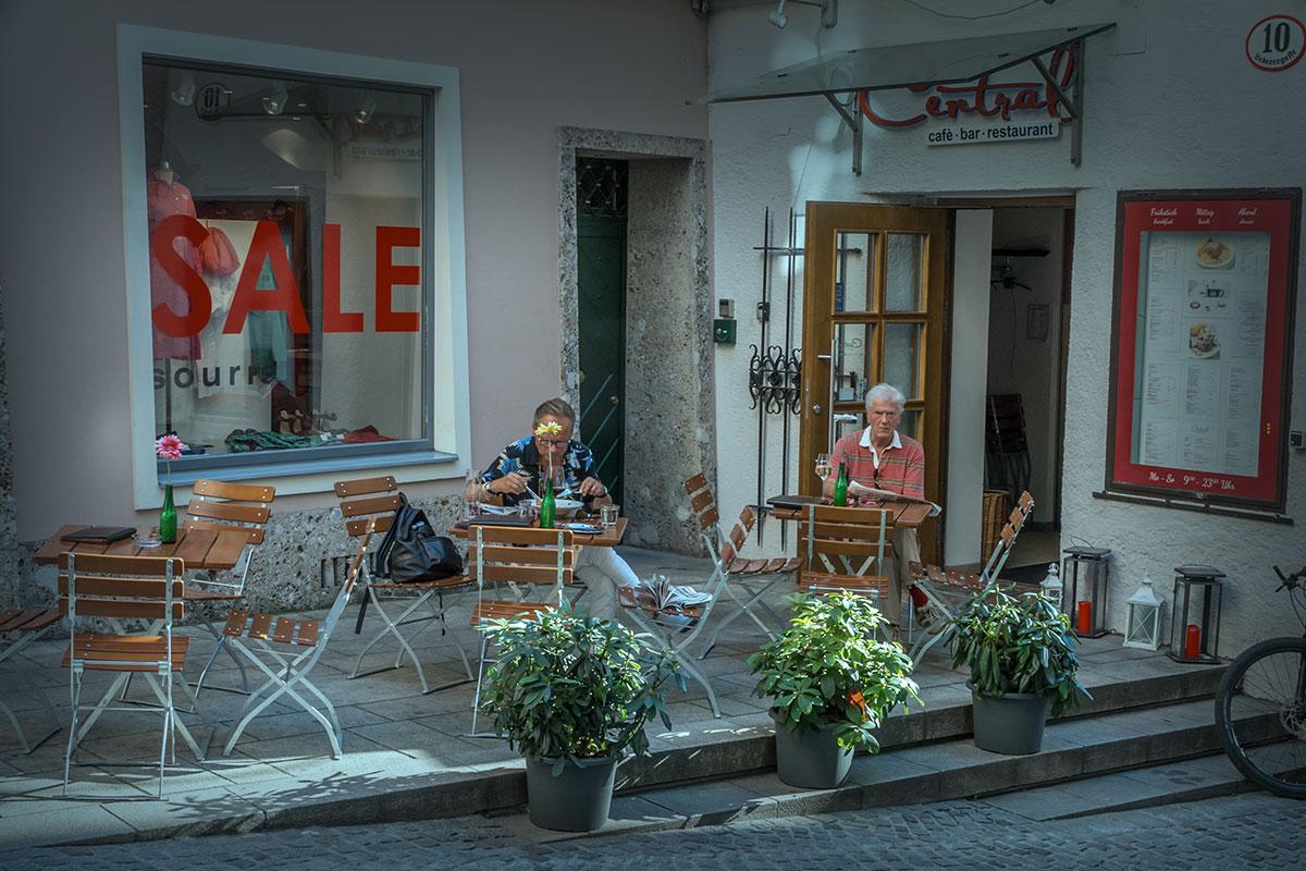 Salzburg, Straßenkaffee