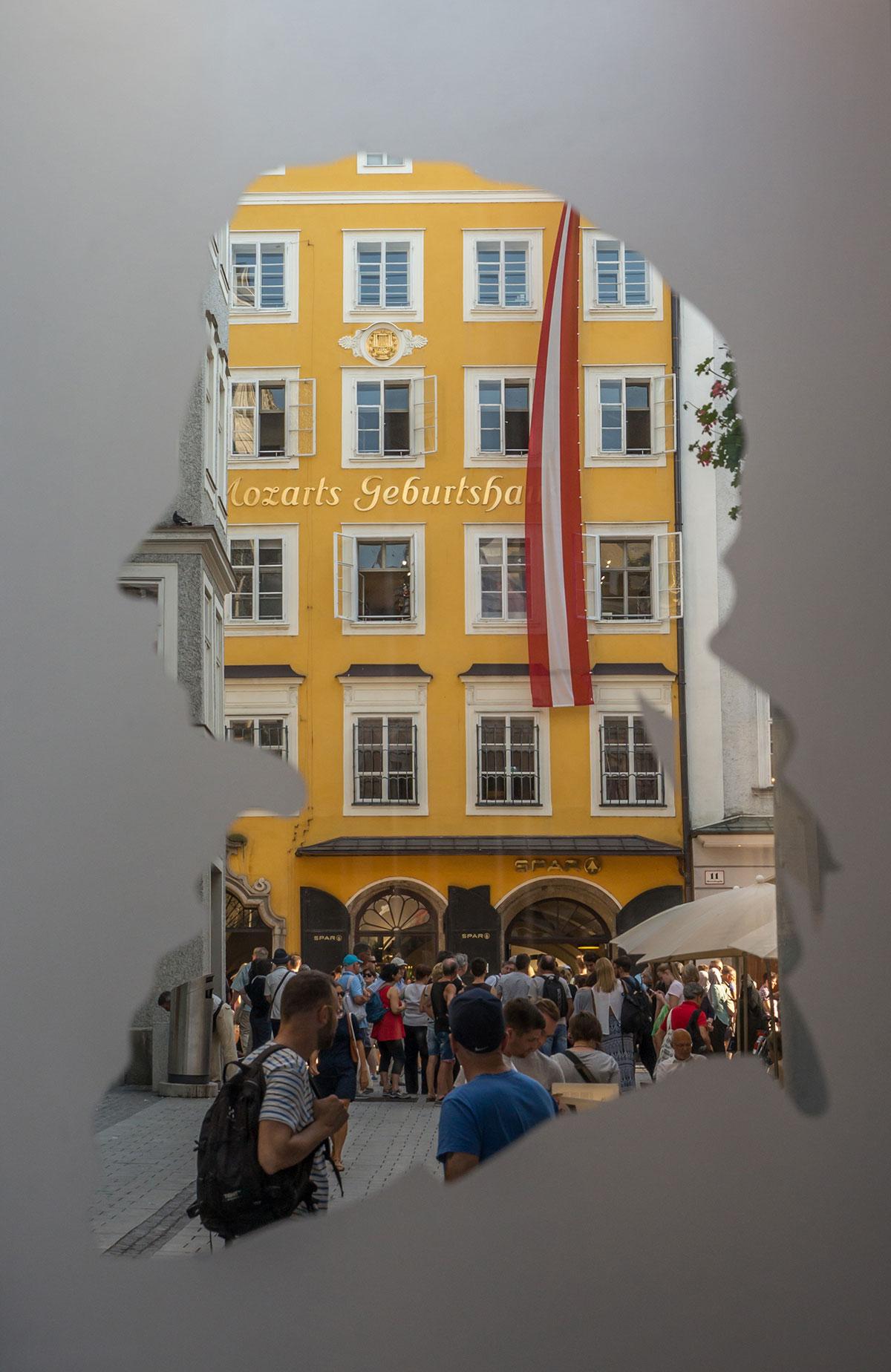 Salzburg, Mozart Haus, Getreidegasse