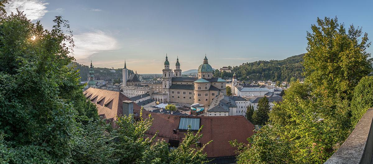 Salzburg, Blick von der Festung Hohensalzburg auf den Dom