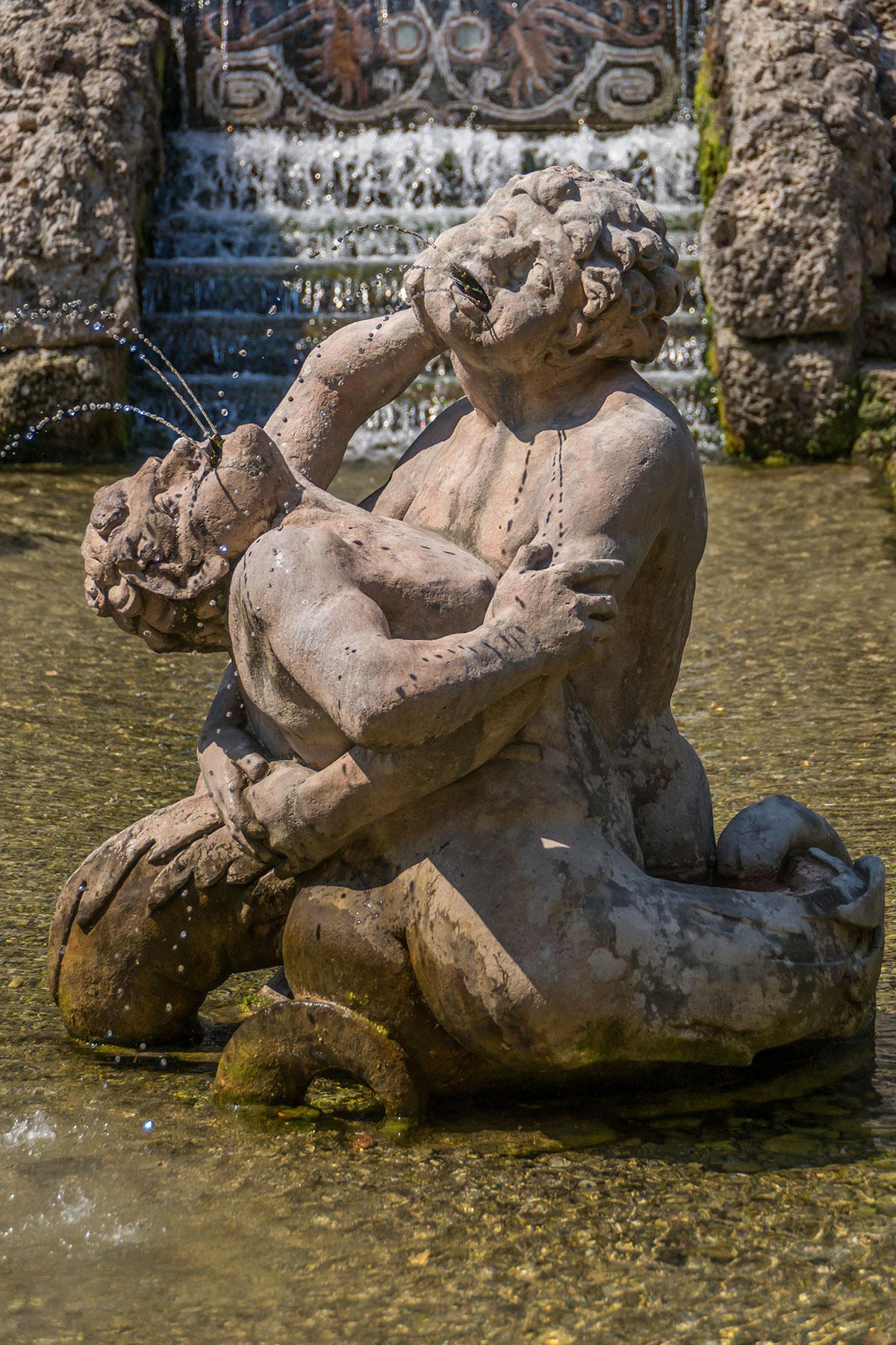Salzburg, Schloss Hellbrunn, Wasserspiele, Markus Sittikus