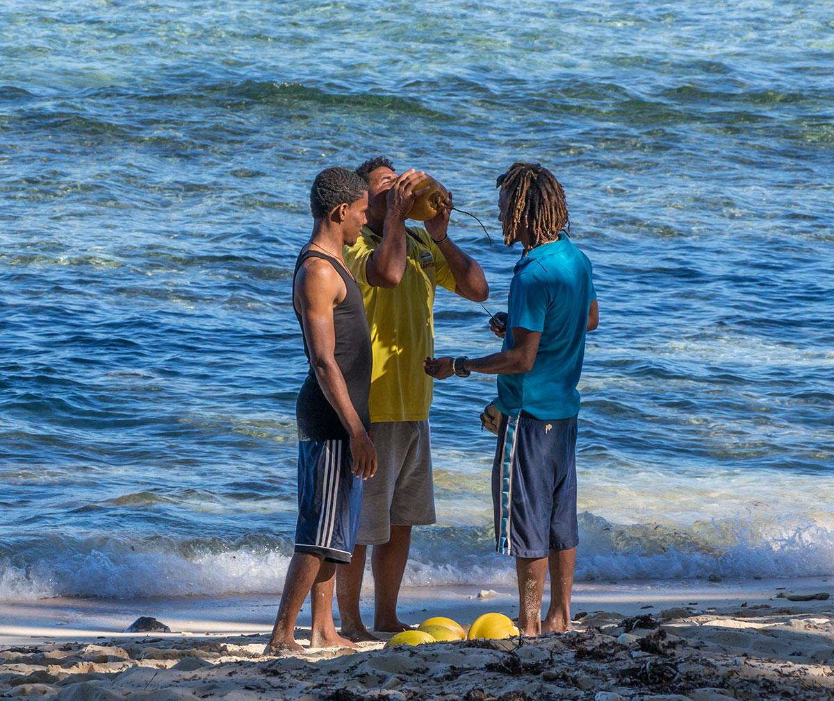 Dominikanische Republik, Playa Fronton bei Las Galeras