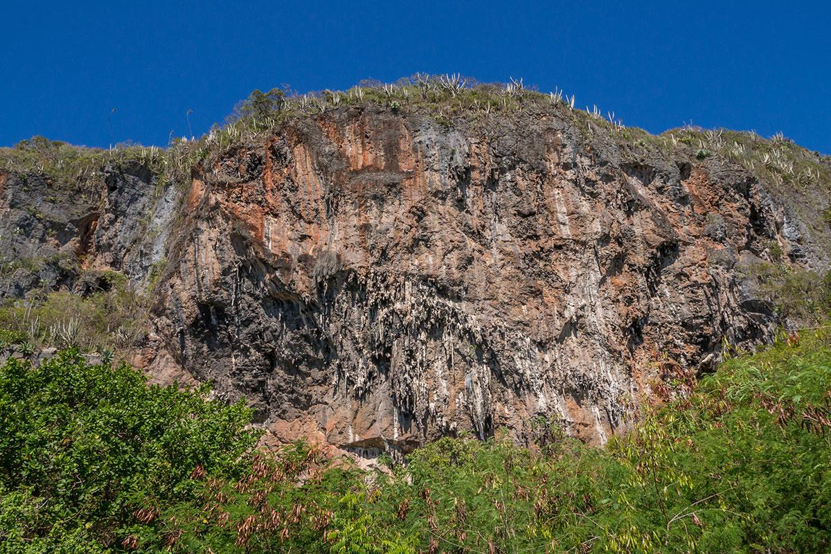 Dominikanische Republik, Playa Fronton bei Las Galeras, Sektor Contra Wall