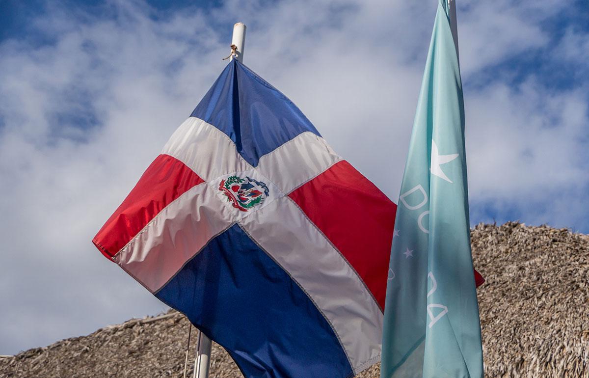 Dominikanische Republik, Fahne