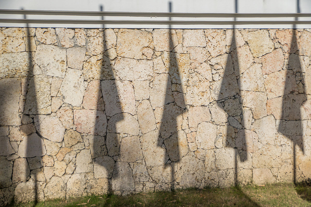 Dominikanische Republik, Fahnen Schatten