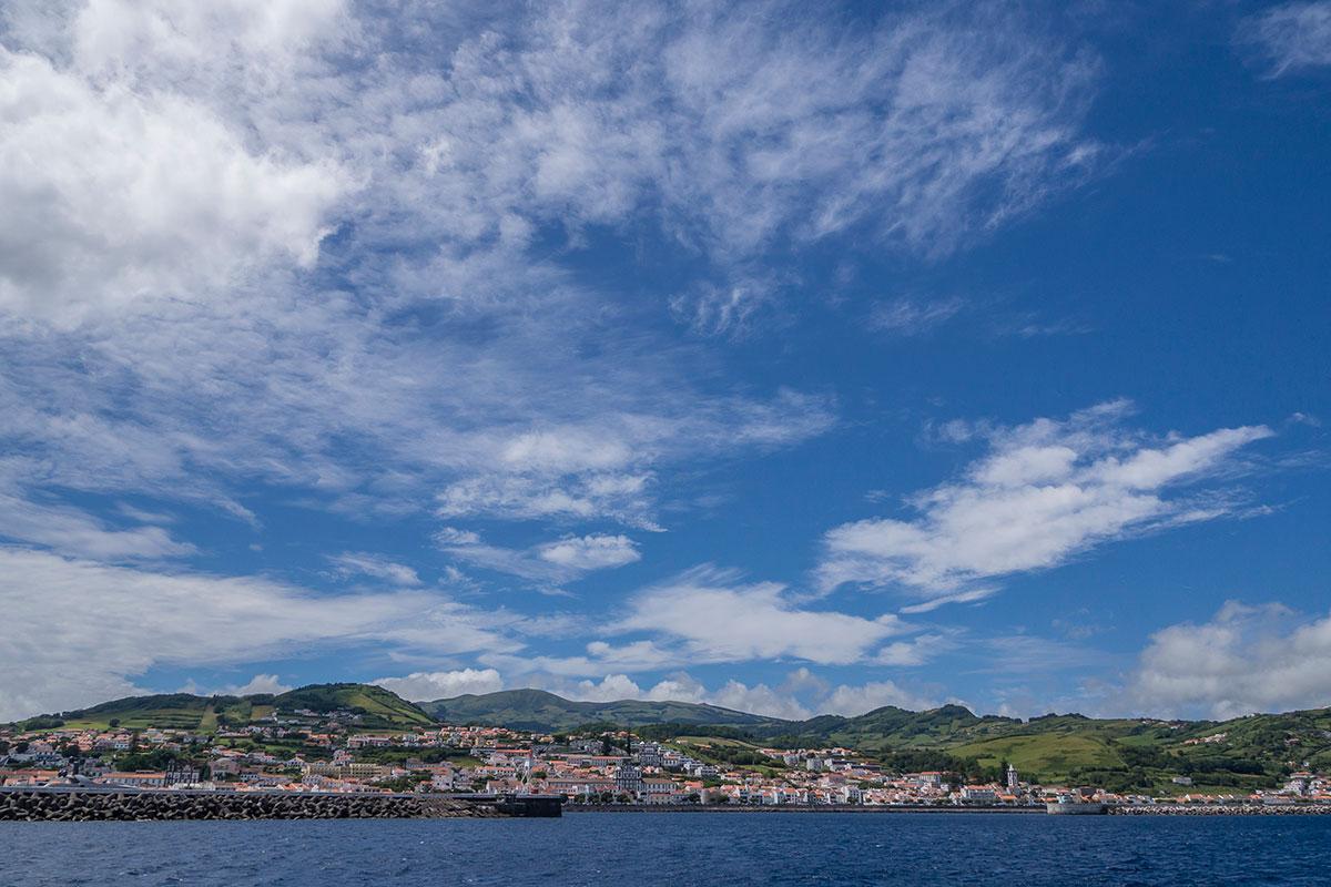 Azoren, Faial, Hafen von Horta