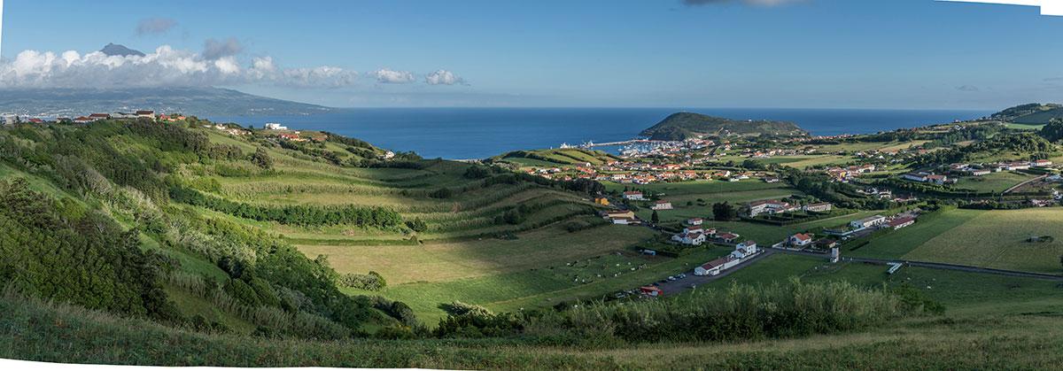 Azoren, Faial, Blick auf Horta