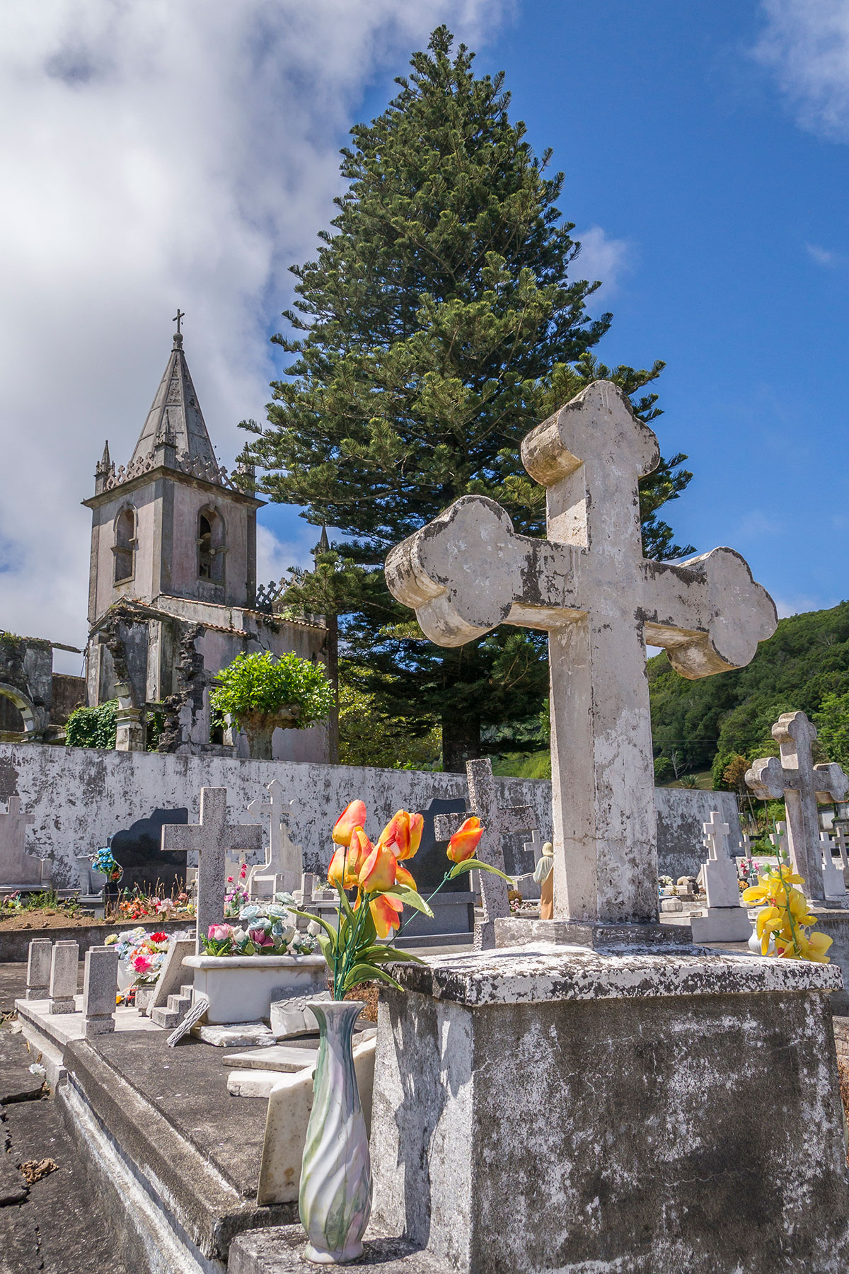 Azoren, Faial, Ribeirinha Friedhof