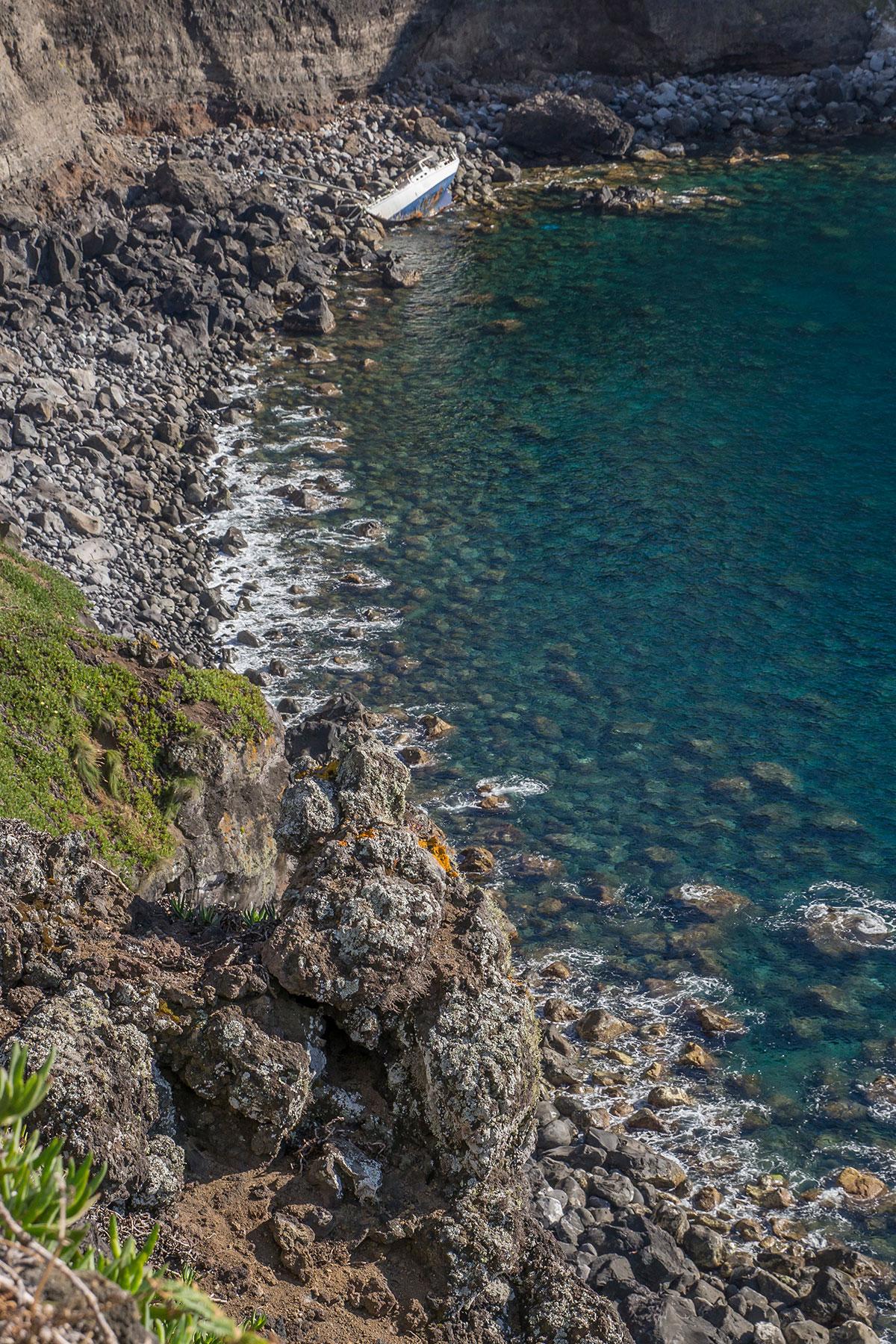 Azoren, Faial, Ponta de Castelo Branco, Wrack