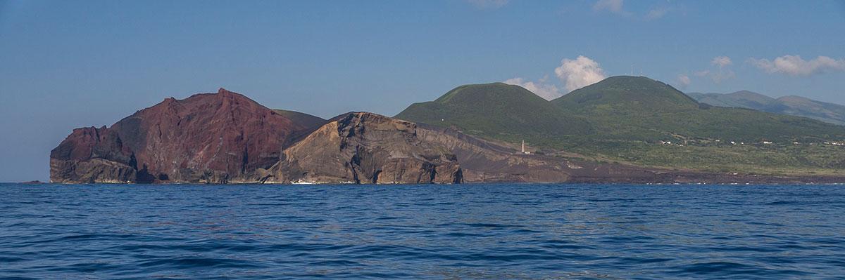 Azoren, Faial, Capelinhos Leuchtturm
