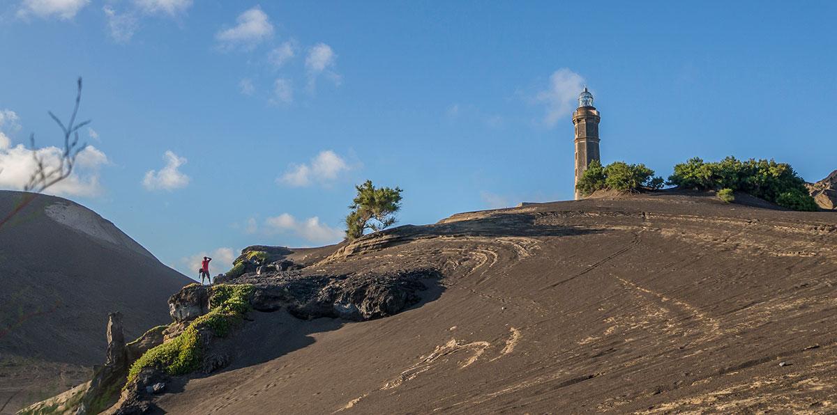 Azoren, Faial, Capelinhos Vulkan und Leuchtturm