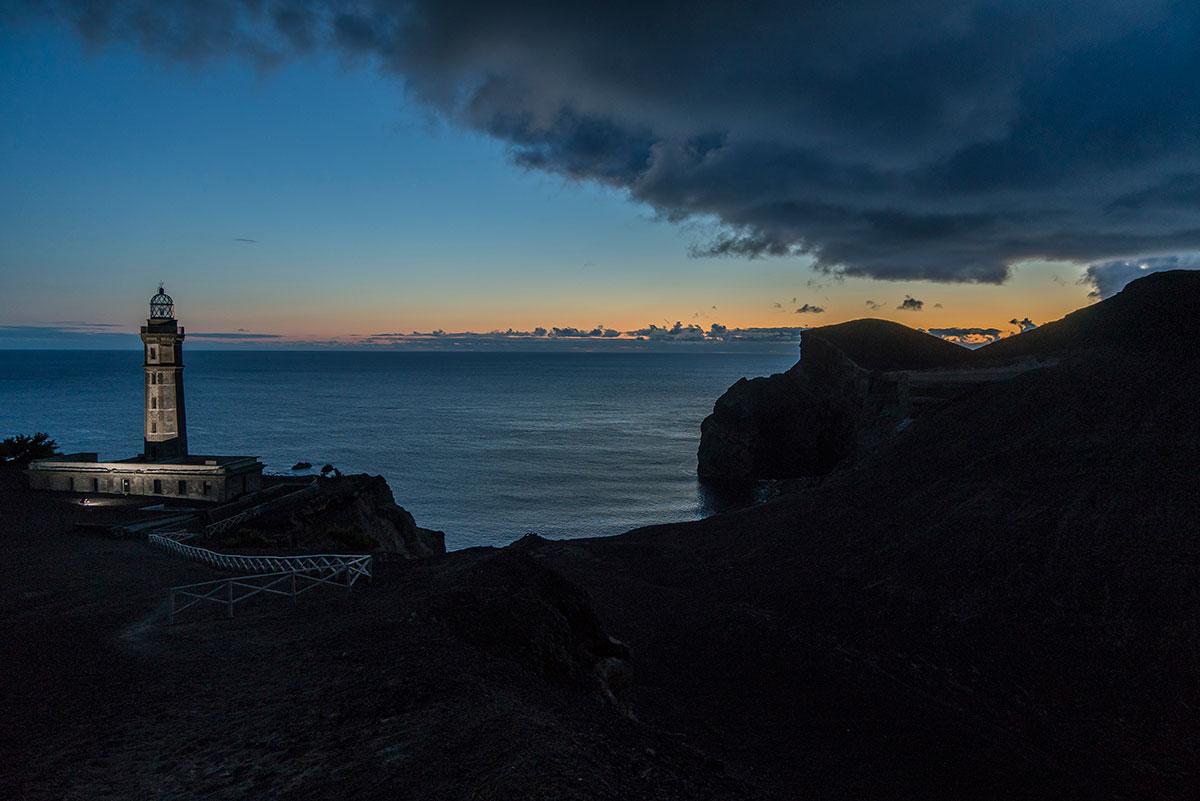 Azoren, Faial, Leuchtturm Capelinhos