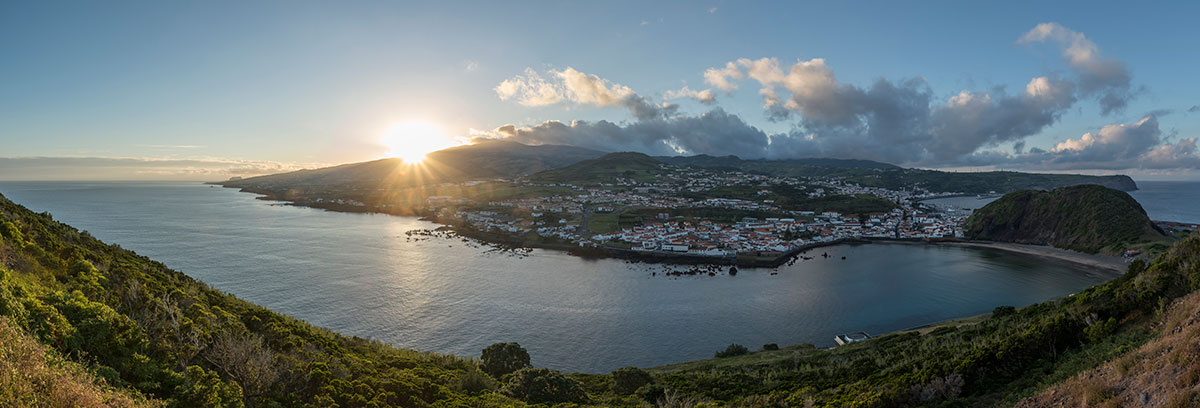 Azoren, Faial, Horta, Azoren, Faial, Horta, Blick vom Monte da Guia