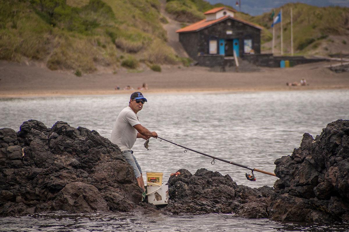 Azoren, Faial, Angler