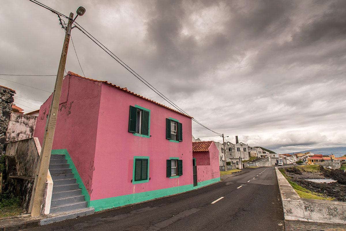 Azoren, Faial, Strasse