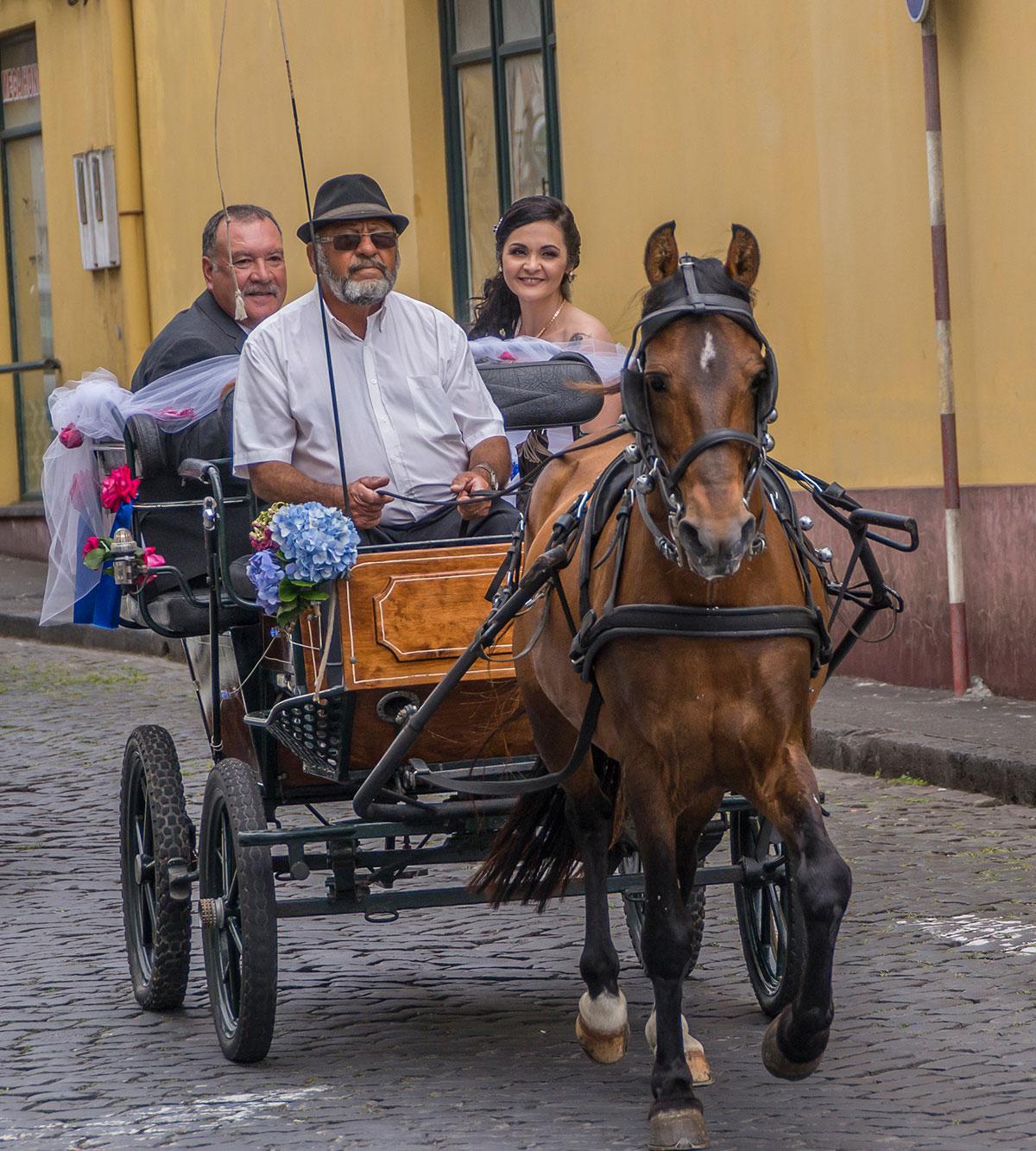 Azoren, Faial, Hochzeitspaar