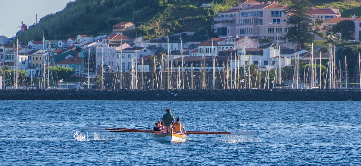 Azoren, Faial, Hafen, Ruderer