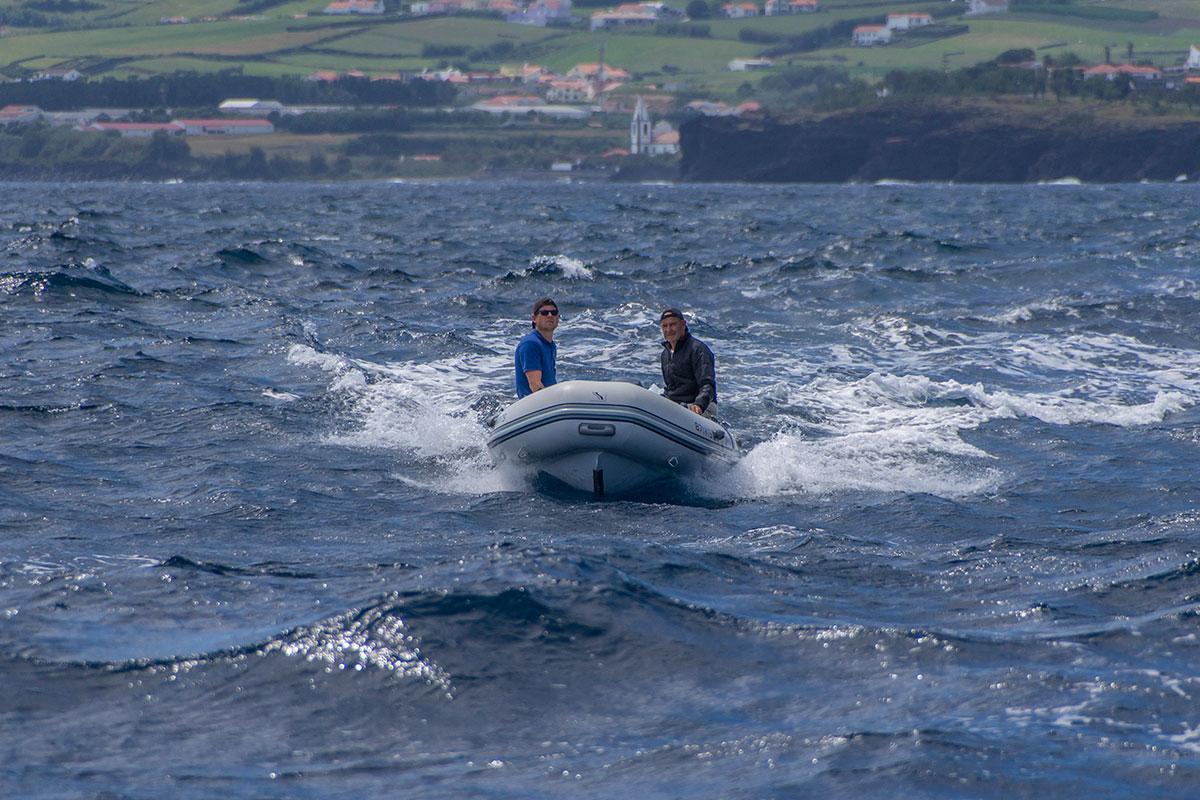 Azoren, Dingi Schlauchboot
