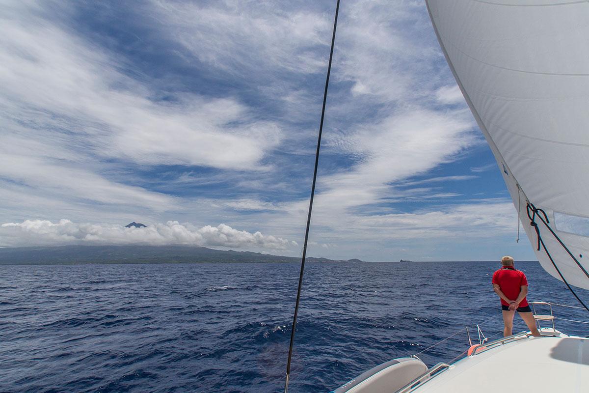 Azoren, Segeln auf der Saildive, Blick auf Pico