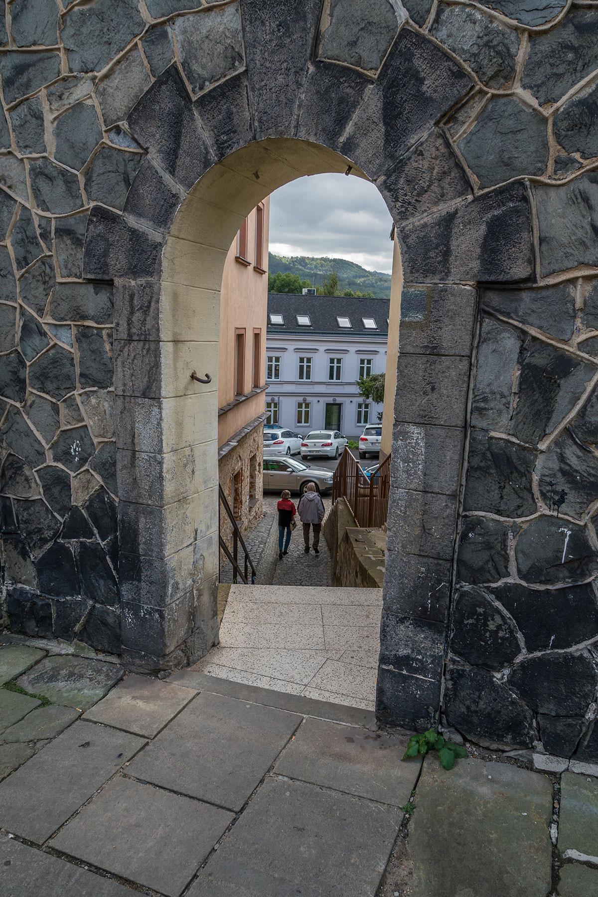 Elbtal bei Děčín, Tor Durchblick