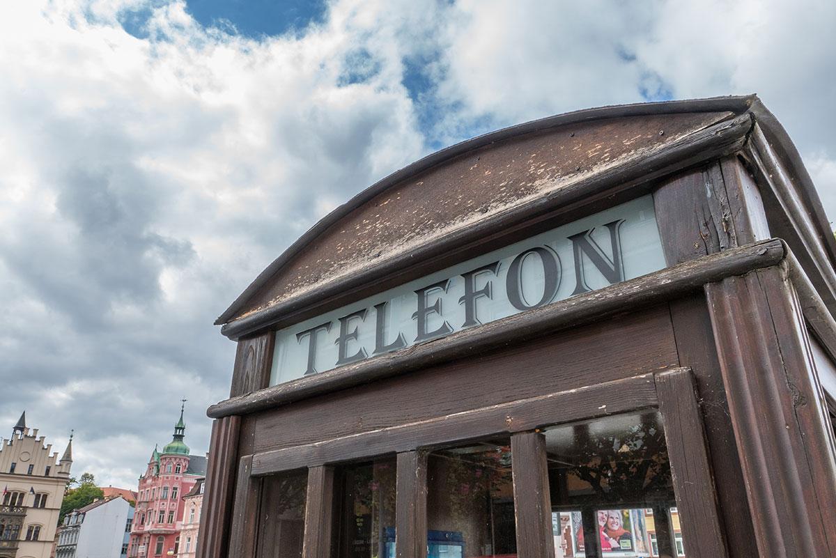 Elbtal, Děčín (Tetschen-Bodenbach), Telefonzelle