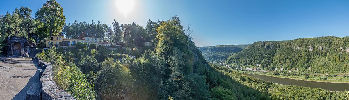Elbtal bei Děčín, Panorama Blick