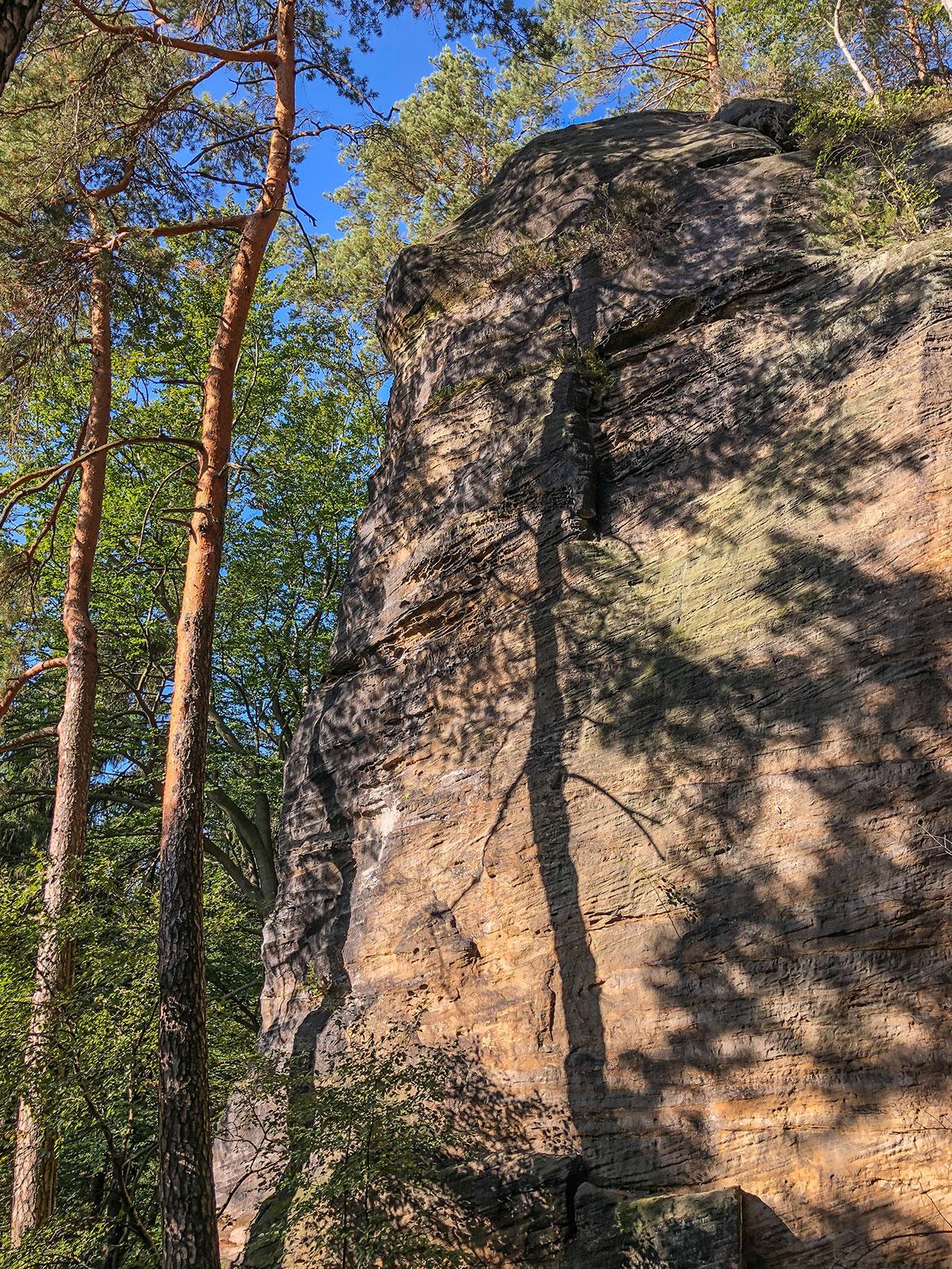 Elbtal, Děčín (Tetschen-Bodenbach), Felsstruktur