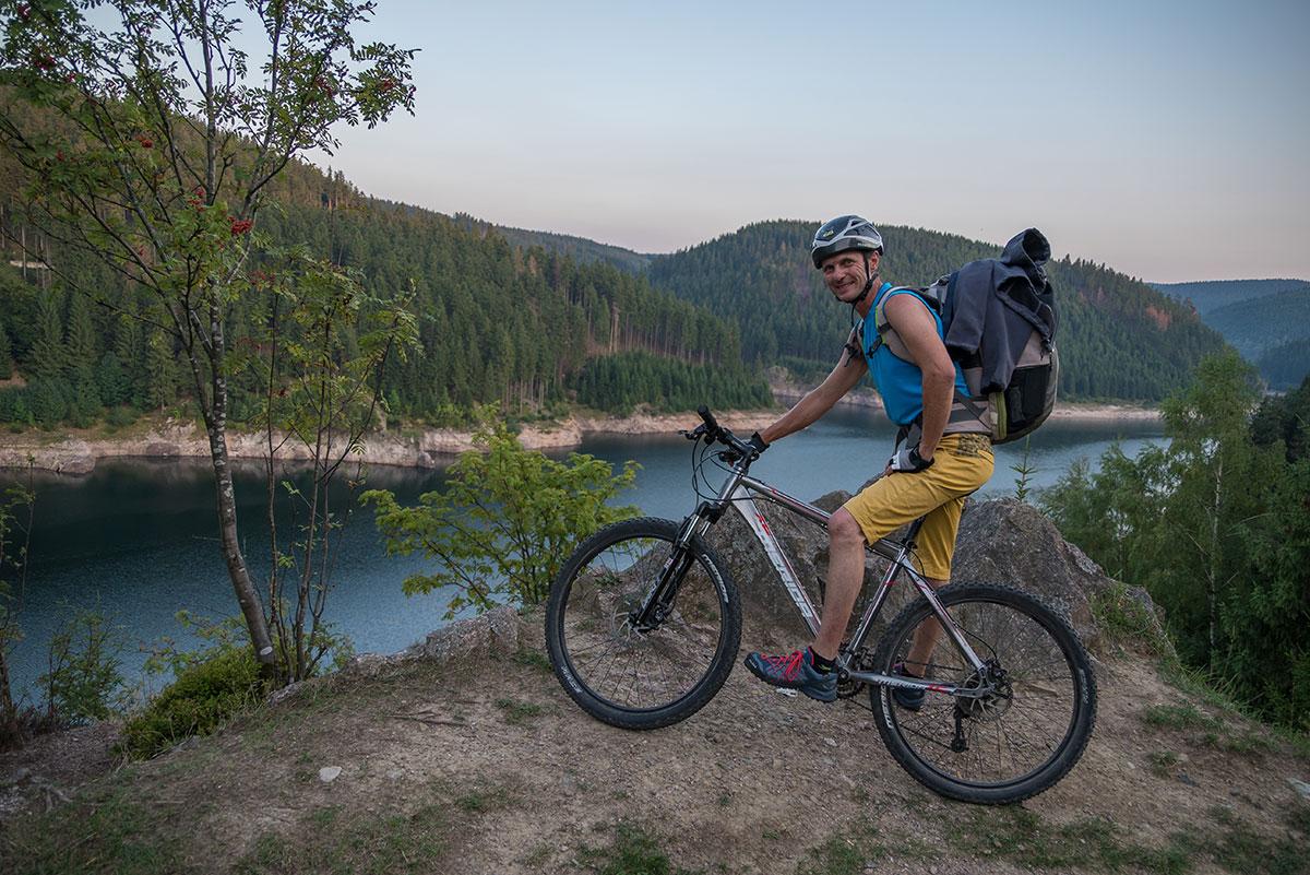Thüringer Wald, Abfahrt vom Falkenstein mit dem Mountain Bike, Stefan Bernert