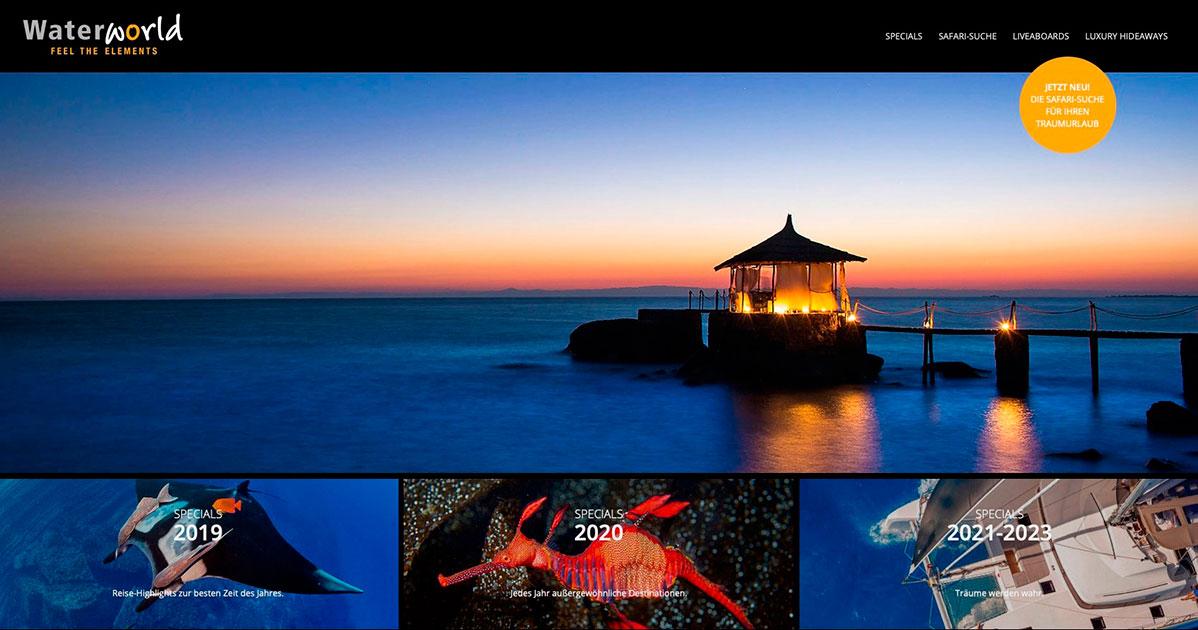 Waterworld Webseite