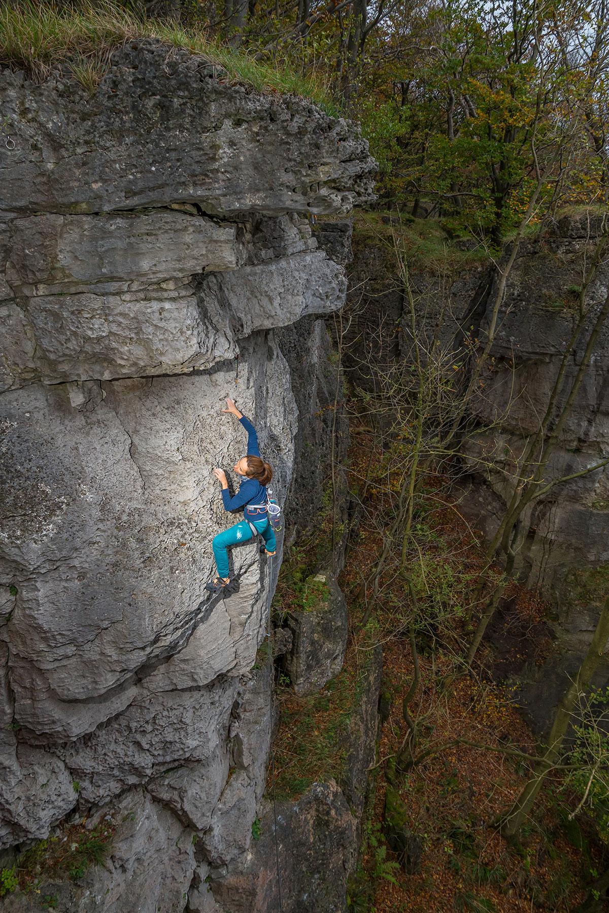 Weserbergland, Ith, Südöstlicher Buchenschlucht Fels, Route