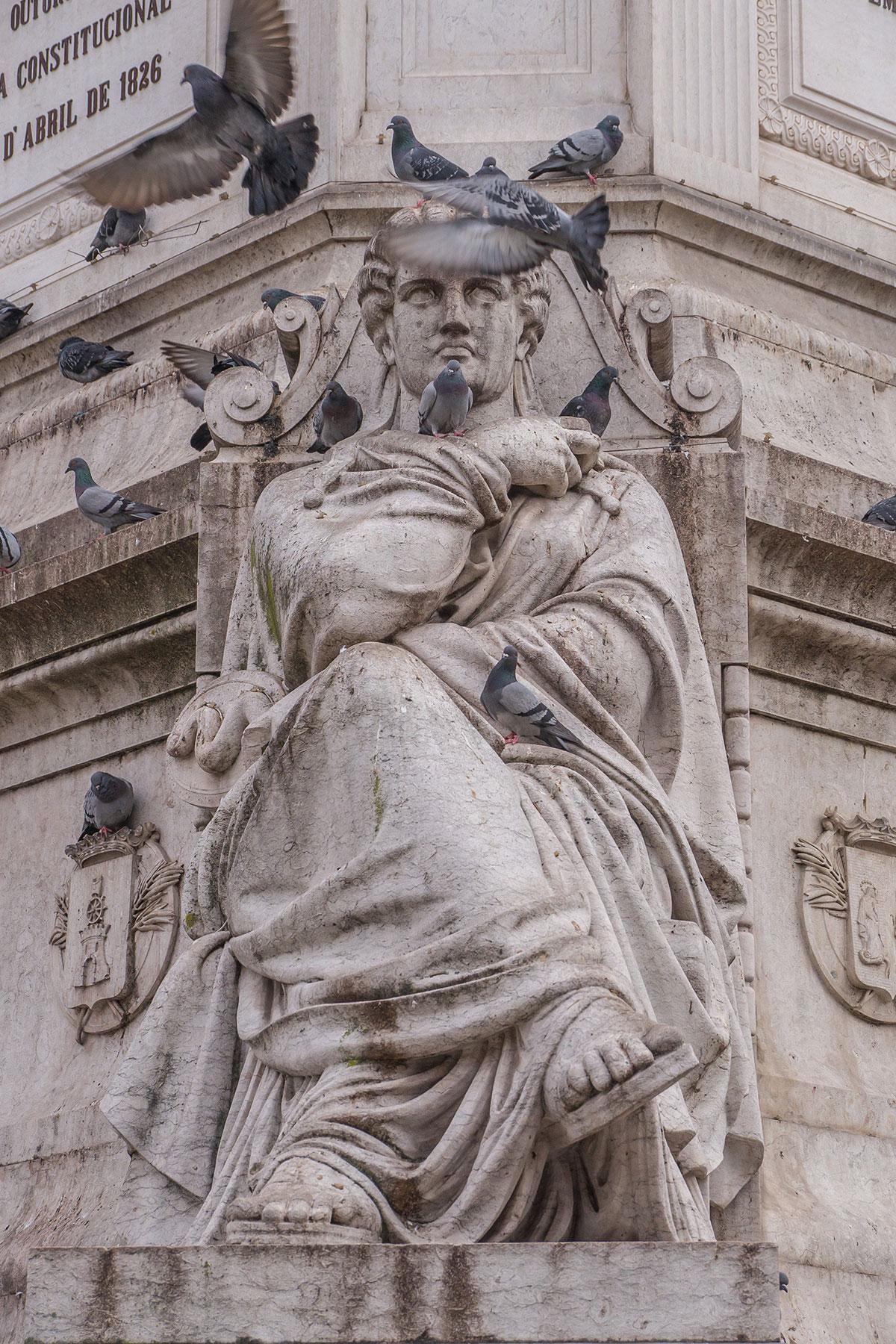 Portugal, Lissabon, Praça Dom Pedro IV