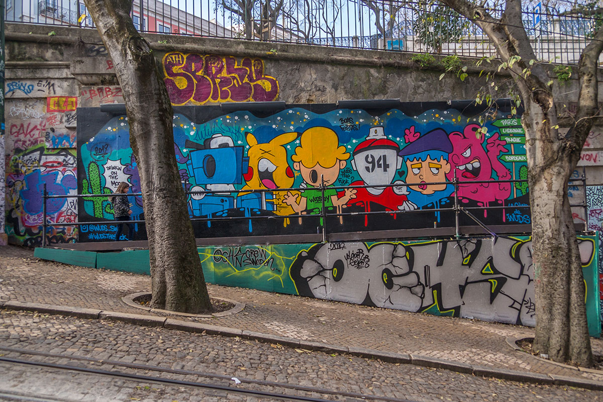 Portugal, Lissabon, Graffity