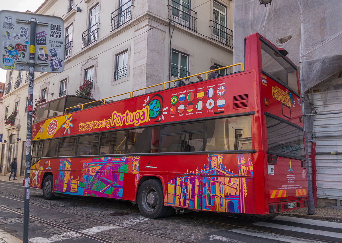 Portugal, Lissabon, City Sightseeing Bus