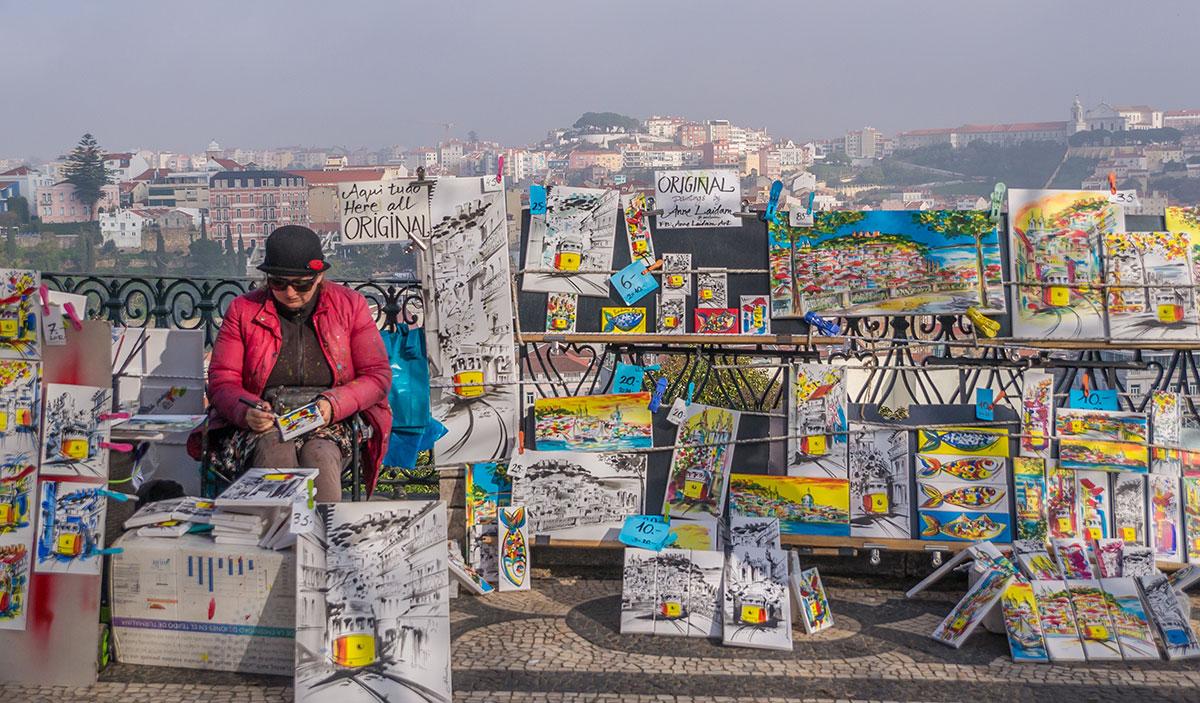 Portugal, Lissabon, Künstlerin