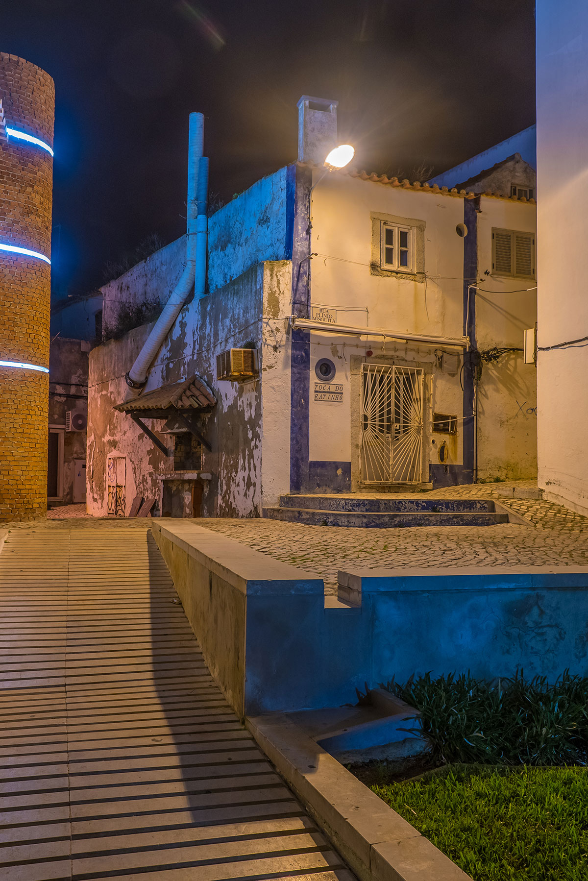 Portugal, Sesimbra bei Nacht