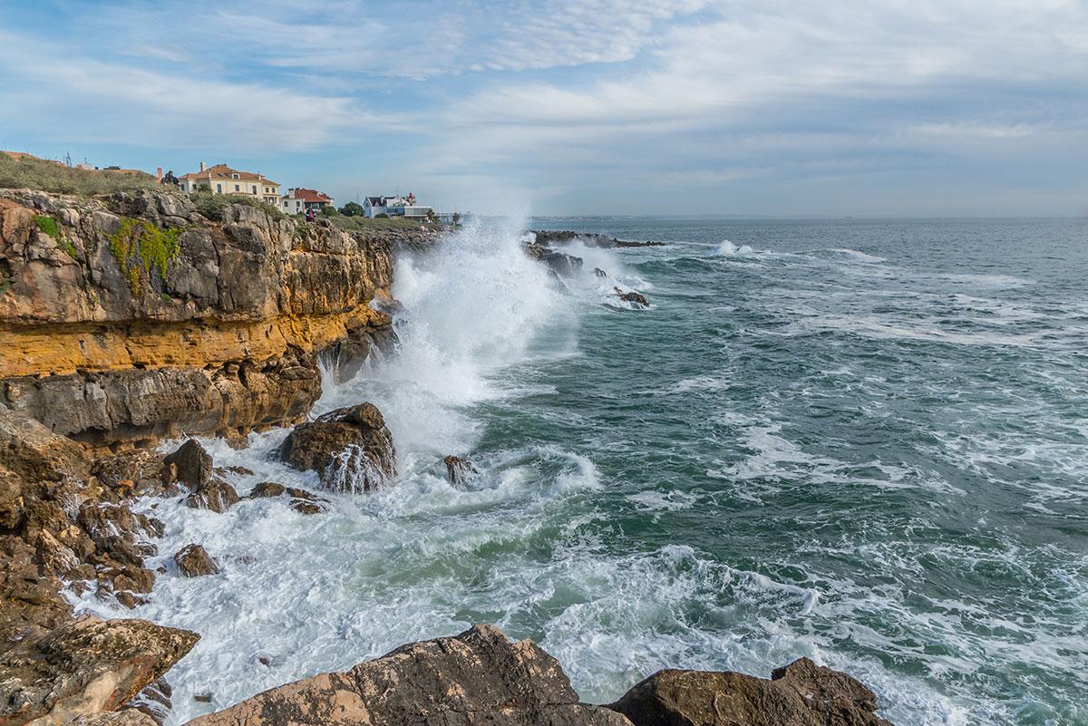 Portugal, Cascais, Küste, Wellen