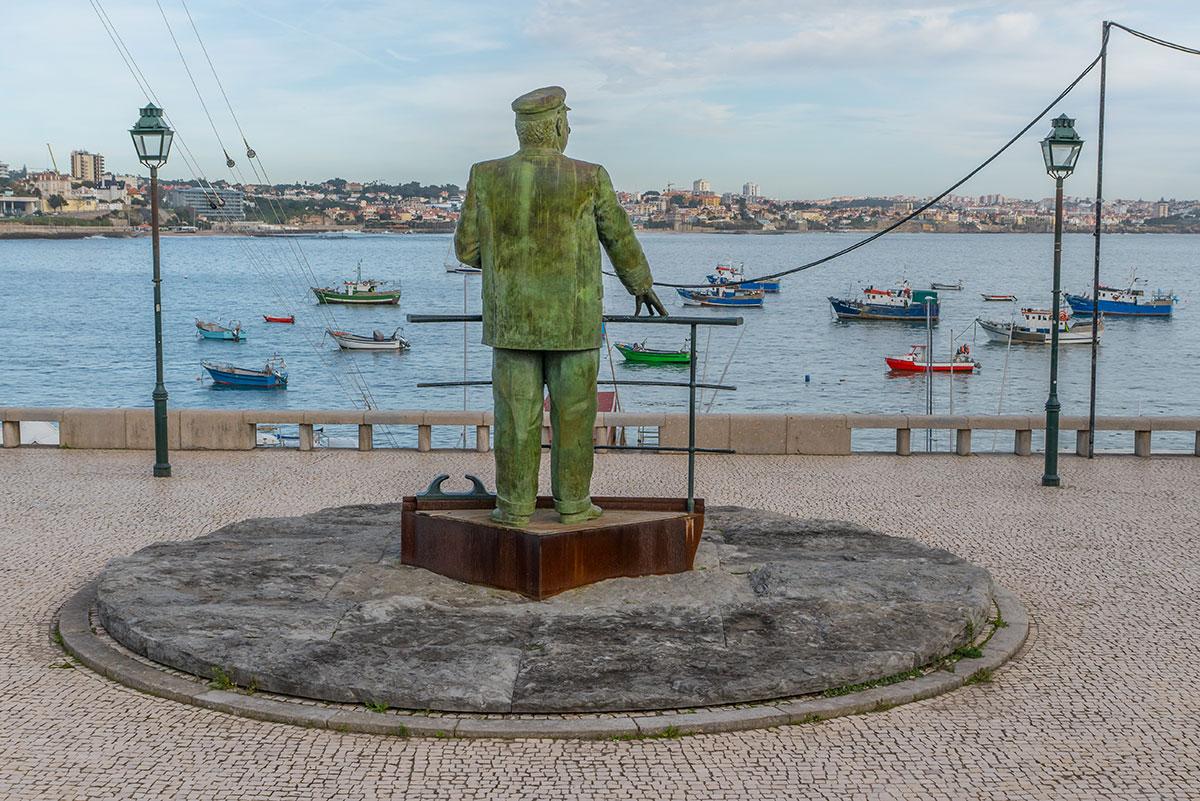 Portugal, Cascais, Hafen, Estátua do Rei Dom Carlos I