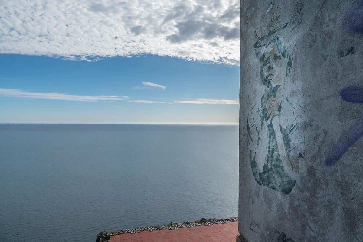 Portugal, Küste bei Azóia, Graffity