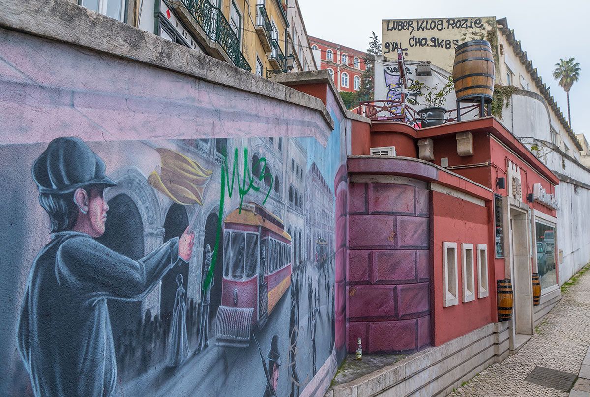 Portugal, Lissabon, Graffity