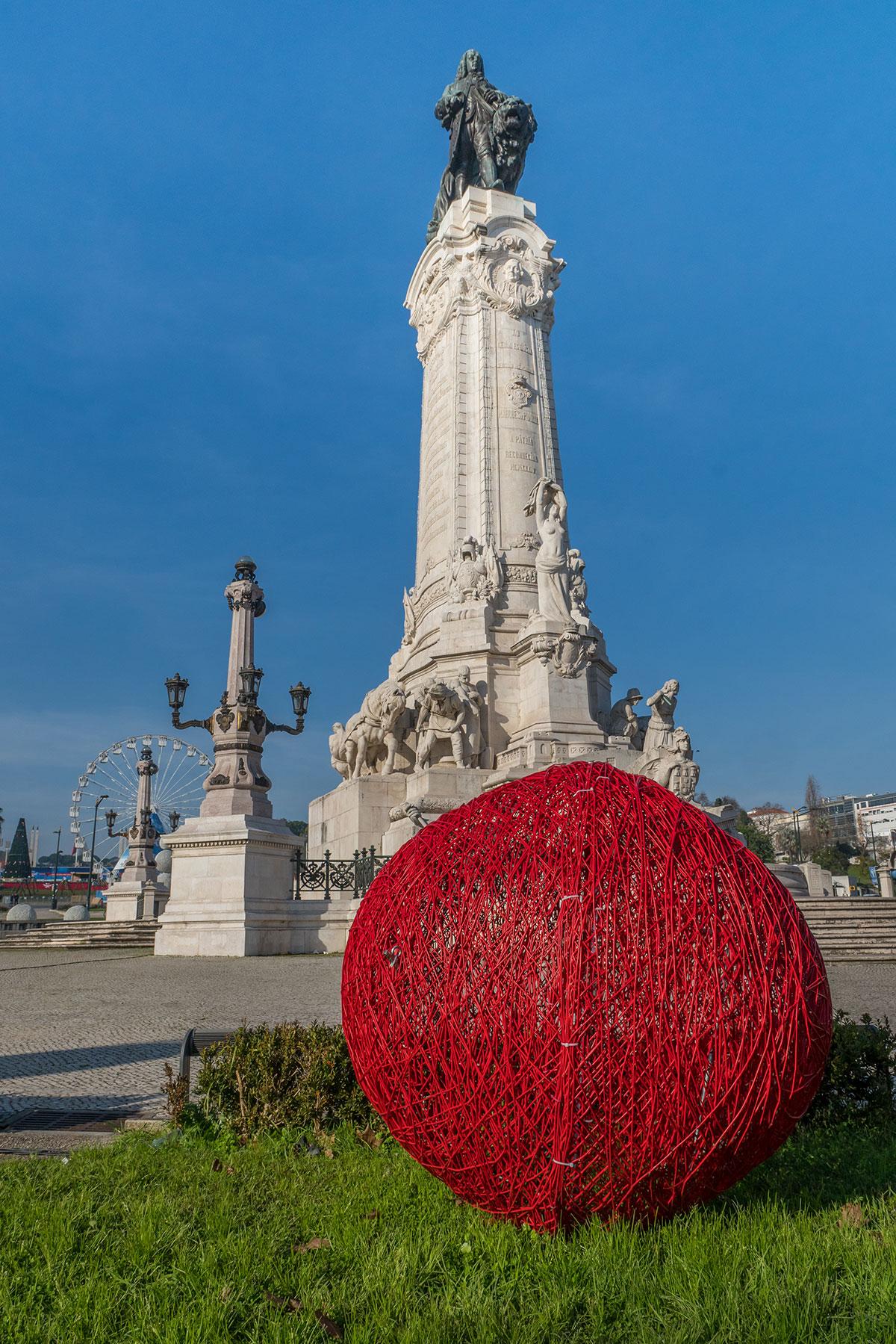 Portugal, Lissabon, Estátua do Marquês de Pombal